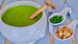 Гороховый суп-пюре с сухариками! Попробовав ложечку этого крем-супа Вы не остановитесь