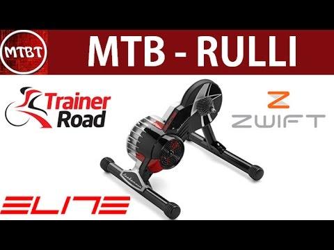 Mountain bike rulli - Elite Turbo muin B+ con App Zwift e Trainer Road - MTB allenamento invernale