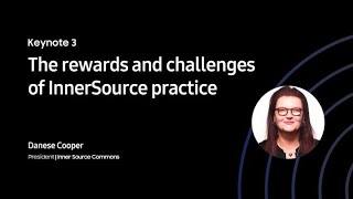 [SOSCON 2020 Keynote] The rewards and challenges of InnerSource practice thumbnail
