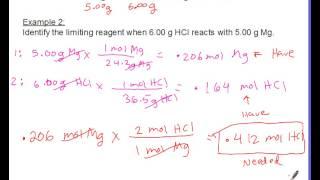 Limiting Reagent