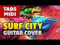 Battletoads OST (NES Game) - Surf City (Acoustic Fingerstyle Guitar TABS and MIDI by Kaminari)