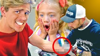 I got a real tattoo of Everleigh and surprised her!!! Her reaction was priceless😭