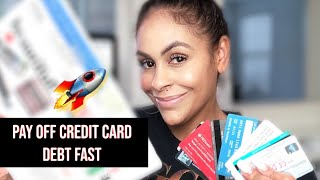 How I paid off $37,000 of CREDIT CARD DEBT| What do you pay first?