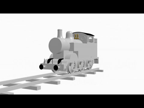 3D Thomas The Tank Engine Model Test 1