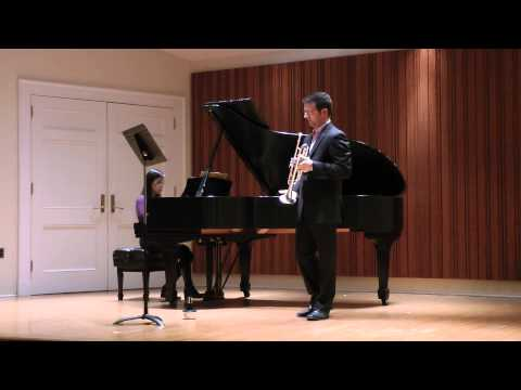 Arutunian Trumpet Concerto, form a recital in 2014