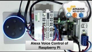Voice Control of Raspberry Pi using Alexa Node-RED & AWS IoT MQTT