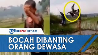 Viral Video Bocah Laki-laki Dibanting dan Dibuang ke Kubangan Air di Bogor, Pelaku Tertawa Cekikikan