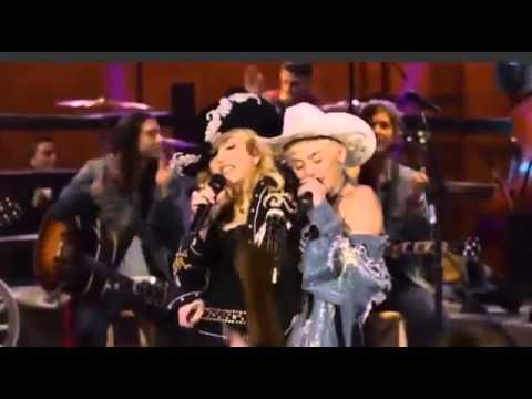 Miley Cyrus dry humping Madonna on stage - MTV Unplugged