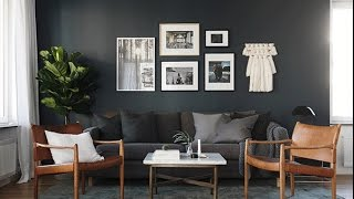 Interior Design ▸ Dark Grey Walls