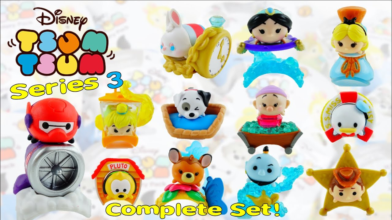 New Disney Tsum Tsum Mystery Stack Pack SERIES 3 - Complete set