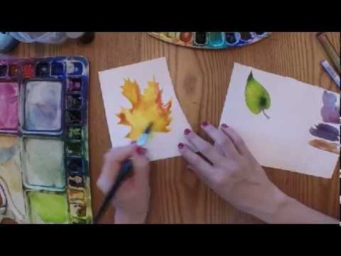 Video Update: 3 Techniques for Painting Leaves In Watercolour