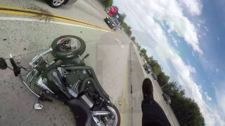 MOTORCYCLE CUT OFF ON LOS ANGELES FREEWAY
