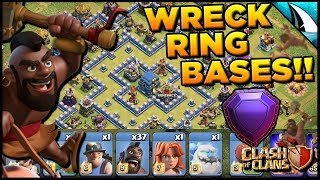 *HIT THE RING BASES* Using Mass Hogs in Legends to hit the Ring Bases | Clash of Clans