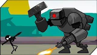 СТИКМЕН против РОБОТА - Игра Stickman Fight Обзор и прохождение  Игры на андроид