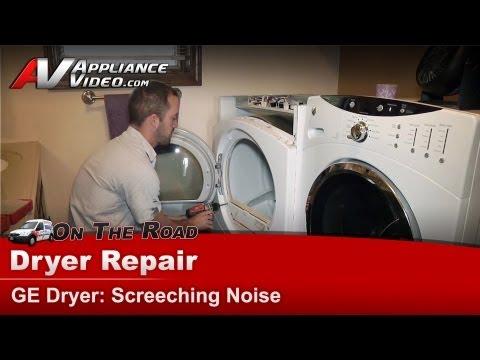 Dryer Repair Screeching squealing noise - diagnostic & repair - GE,Hotpoint, RCA