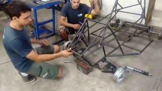 Kart Cross Construção Artesanal FASE 15 - Suspenção Dianteira