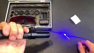 Burning 1W Blue Laser Pointer! [Dangerous]