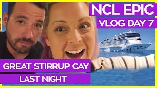 Quick Stop at Great Stirrup Cay   Norwegian Epic Cruise Vlog Day 07