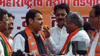 BJP workers celebrate at party office in Mumbai, Devendra Fadnavis promises stable govt