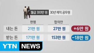 '더 내고 덜 받는' 공무원 연금 개혁 타결 임박 / YTN