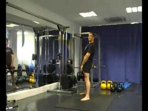Stiff leg deadlift with Kettlebells