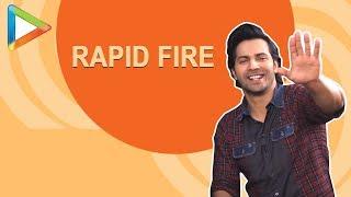 Varun Dhawan's MOST EPIC RAPID FIRE | Salman | SRK | Alia | Anushka | The Rock | Sui Dhaaga