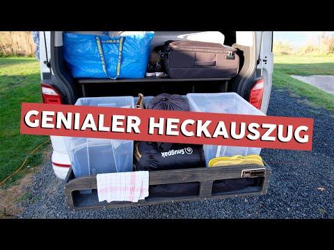 Unser Heckauszug | TRAVEL SLEEP BOX | Was haben wir dabei?