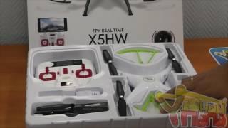 Распаковка квадрокоптера SYMA X5HW с FPV транслирующей камерой и барометром