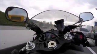 Смотреть онлайн Авария на мотоцикле глазами мотоциклиста