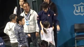 ドリームテニス錦織圭に「抱っこ!」20161126