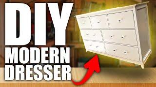 DIY Dresser Video | Modern Glam Dresser | Farmhouse Glam Dresser