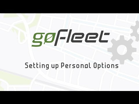 Setting Up Personal Options