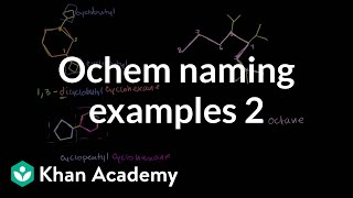 Organic Chemistry Naming Examples 2