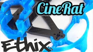 Ethix Cinerat frame - Cinewhoop with no ducts - More performance camera FPV drone