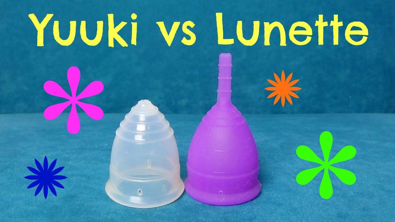 Yuuki vs Lunette menstrual cup