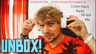 LOUD Multi-Use Bluetooth Headphones Under $40!   Sound Intone Unboxing