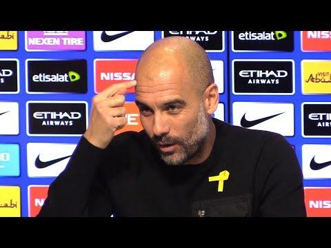 Pep Guardiola Pre-Match Press Conference - Manchester United v Manchester City - Embargo Extras