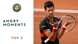Angry Moments - TOP 5 | Roland Garros 2018