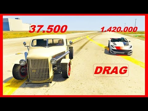 GTA 5 ONLINE How To WIN EVERY DRAG RACE !! THE BEST DRAG RACE CARS ! RAT TRUCK VS PARIAH