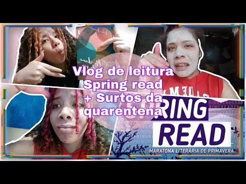 VLOG DE LEITURA: lendo, surtando e pintando o cabelo | Spring Read