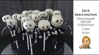 Jack Skellington Cake Pops - Halloween Cake Pops - Nightmare Before Christmas Cake Pops