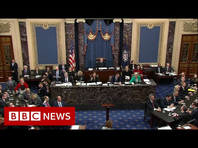 President Trump acquitted in impeachment trial- BBC News