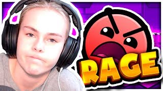 GIRLFRIEND TRIES GEOMETRY DASH FOR THE FIRST TIME - RAGES HARD!