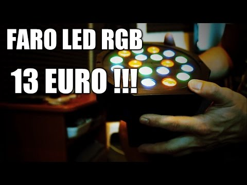 Vlog  - Unboxing Faro Strobo RGB Super Economico