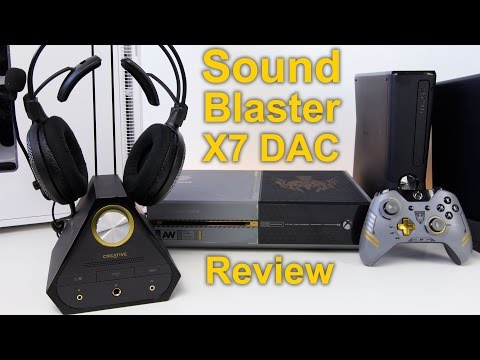 Creative Labs Sound Blaster X7 Audiophile DAC Amp Review