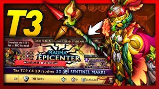 Knights and Dragons - MAGMA EPICENTER TOP 3 Guild War Push on my MAIN ACCOUNT!! INSANE Shadowforged+