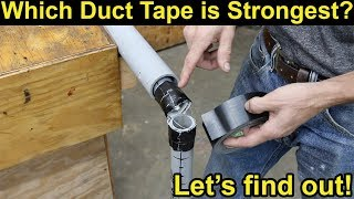 Which Duct Tape Is Strongest? Let's find out! Gorilla, T-Rex, FiberFix, 3M Pro & Duck Max