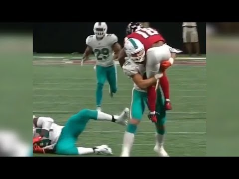 Kiko Alonso HILARIOUSLY Carries a Falcons Receiver 10 Yards Down the Field!