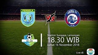 Live Streaming Indosiar, Persela Vs Arema di Liga 1 2018, Jumat Pukul 18.30 WIB