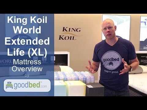 King Koil World Extended Life (XL) Mattress Options EXPLAINED by GoodBed (VIDEO)